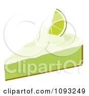Clipart Slice Of Key Lime Pie 2 Royalty Free Vector Illustration by Randomway