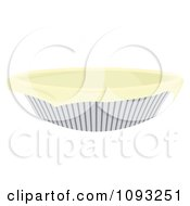 Clipart Dough In A Pie Pan Royalty Free Vector Illustration