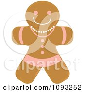 Clipart Gingerbread Woman Cookie 1 Royalty Free Vector Illustration