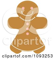 Clipart Gingerbread Woman Cookie 2 Royalty Free Vector Illustration by Randomway