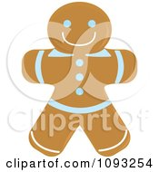 Clipart Gingerbread Man Cookie 1 Royalty Free Vector Illustration