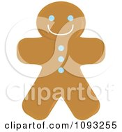 Clipart Gingerbread Man Cookie 2 Royalty Free Vector Illustration