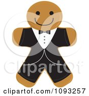 Clipart Gingerbread Groom Cookie Royalty Free Vector Illustration by Randomway