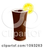Clipart Glass Of Iced Tea Royalty Free Vector Illustration by Randomway