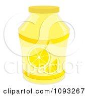 Clipart Jar Of Lemon Jam Royalty Free Vector Illustration by Randomway