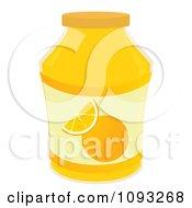 Clipart Jar Of Orange Marmalade Jam Royalty Free Vector Illustration by Randomway