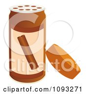 Clipart Open Spice Bottle Of Cinnamon Flavoring Royalty Free Vector Illustration