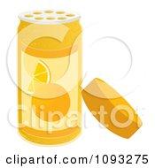 Clipart Open Spice Bottle Of Orange Zest Flavoring Royalty Free Vector Illustration by Randomway