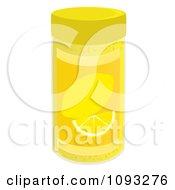 Clipart Spice Bottle Of Lemon Zest Flavoring Royalty Free Vector Illustration by Randomway