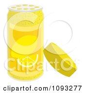 Clipart Open Spice Bottle Of Lemon Zest Flavoring Royalty Free Vector Illustration by Randomway