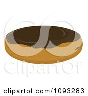 Clipart Filled Chocolate Frosted Donut Royalty Free Vector Illustration by Randomway