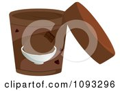 Clipart Open Container Of Chocolate Ice Cream Royalty Free Vector Illustration