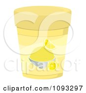 Clipart Container Of Lemon Ice Cream Royalty Free Vector Illustration by Randomway