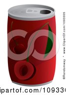 Clipart Can Of Cherry Soda Royalty Free Vector Illustration by Randomway