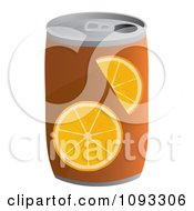 Clipart Can Of Orange Soda Royalty Free Vector Illustration by Randomway