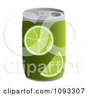 Clipart Can Of Lime Soda Royalty Free Vector Illustration