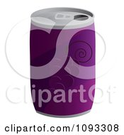 Clipart Can Of Grape Soda Royalty Free Vector Illustration by Randomway
