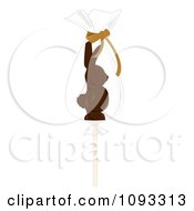Clipart Chocolate Easter Bunny Lolipop 1 Royalty Free Vector Illustration by Randomway