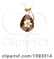 Clipart Chocolate Easter Egg Lolipop Royalty Free Vector Illustration by Randomway