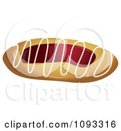 Clipart Raspberry Or Strawberry Danish Royalty Free Vector Illustration by Randomway