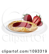 Clipart Strawberry Danish Royalty Free Vector Illustration by Randomway