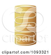 Clipart Cheese Danish Pocket Royalty Free Vector Illustration by Randomway