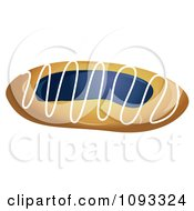 Clipart Blueberry Danish Royalty Free Vector Illustration by Randomway