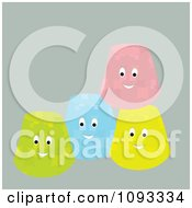Clipart Happy Gum Drop Characters Royalty Free Vector Illustration