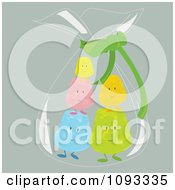 Clipart Bag Of Colorful Gum Drop Characters Royalty Free Vector Illustration
