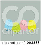 Clipart Colorful Gum Drop Characters 1 Royalty Free Vector Illustration