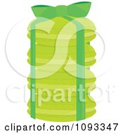 Clipart Gift Stack Of Green Macaroon Cookies Royalty Free Vector Illustration
