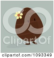 Clipart Chocolate Easter Egg Character Royalty Free Vector Illustration