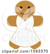Clipart Gingerbread Cookie Bride - Royalty Free Vector Illustration by Randomway