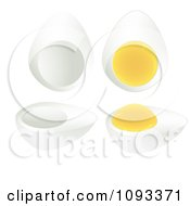 Clipart Hard Boiled Eggs - Royalty Free Vector Illustration by Randomway #COLLC1093371-0150
