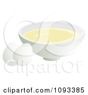 Clipart Eggs And A Bowl Of Whites Royalty Free Vector Illustration by Randomway