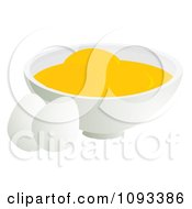 Clipart Two Eggs And A Bowl Of Yolks Royalty Free Vector Illustration by Randomway
