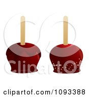 Clipart Red Candied Apples Royalty Free Vector Illustration by Randomway
