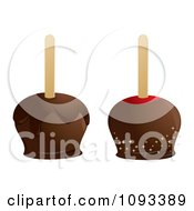 Clipart Chocolate Apples Royalty Free Vector Illustration by Randomway