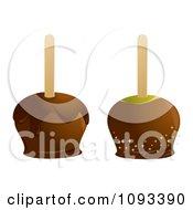 Clipart Caramel Apples Royalty Free Vector Illustration by Randomway