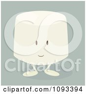 Clipart Marshmallow Character Royalty Free Vector Illustration