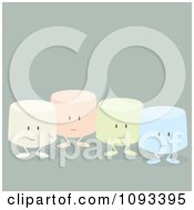 Clipart Colorful Marshmallow Characters 1 Royalty Free Vector Illustration