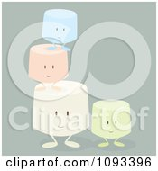Clipart Colorful Marshmallow Characters 2 Royalty Free Vector Illustration