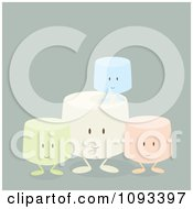 Clipart Colorful Marshmallow Characters 3 Royalty Free Vector Illustration