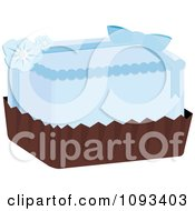 Clipart Blue Petite Four Royalty Free Vector Illustration