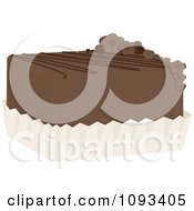 Clipart Chocolate Petite Four Royalty Free Vector Illustration by Randomway