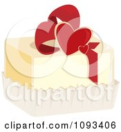 Clipart Valentine Petite Four Royalty Free Vector Illustration