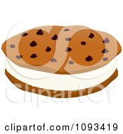 Clipart Ice Cream Cookie Sandwich 2 Royalty Free Vector Illustration