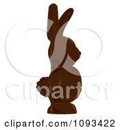 Clipart Chocolate Easter Bunny 1 Royalty Free Vector Illustration by Randomway