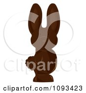 Clipart Chocolate Easter Bunny 2 Royalty Free Vector Illustration by Randomway