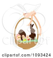 Clipart Easter Basket With Candy Royalty Free Vector Illustration by Randomway